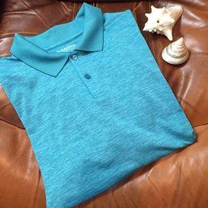 Haggar Blue Polo Men's Size XXL Short Sleeve